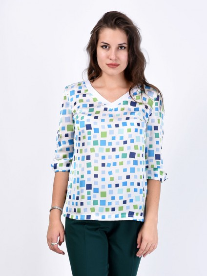 Блуза мод. 6508 цвет Белый
