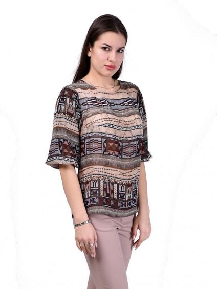 Блуза мод. 6510 цвет Бежевый