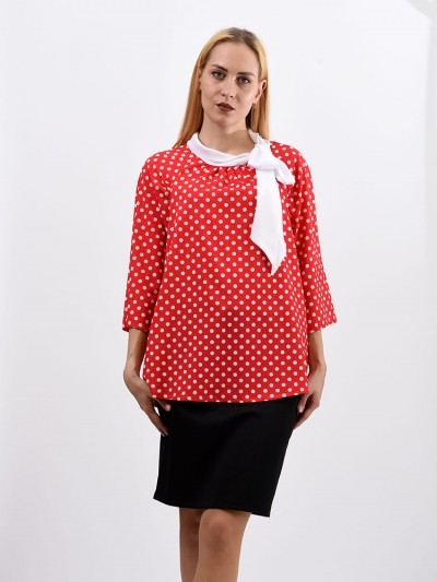 Блуза мод. 6514 цвет Красный