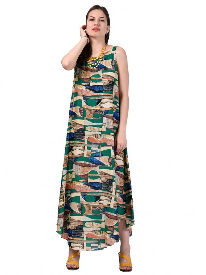 Сарафан мод. 6704 цвет Зеленый